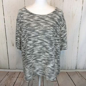 Lane Bryant black white Space Dye Textured…
